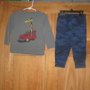 Boys Baby Gap Long Sleeve Shirt and Camo Pants
